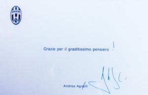 I ringraziamenti di A. Agnelli