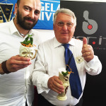 Peppino Manzi con il barman Diego Capitani
