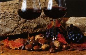 Abbinamenti di castagne e marroni col vino novello