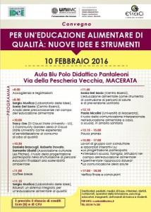 A Macerata, il 10 febbraio, un convegno sull'educazione alimentare