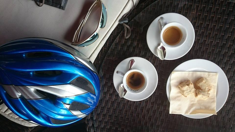 caffè gratis in bici