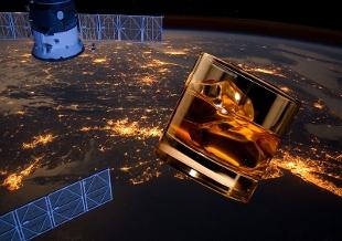 whisky invecchiato nello spazio