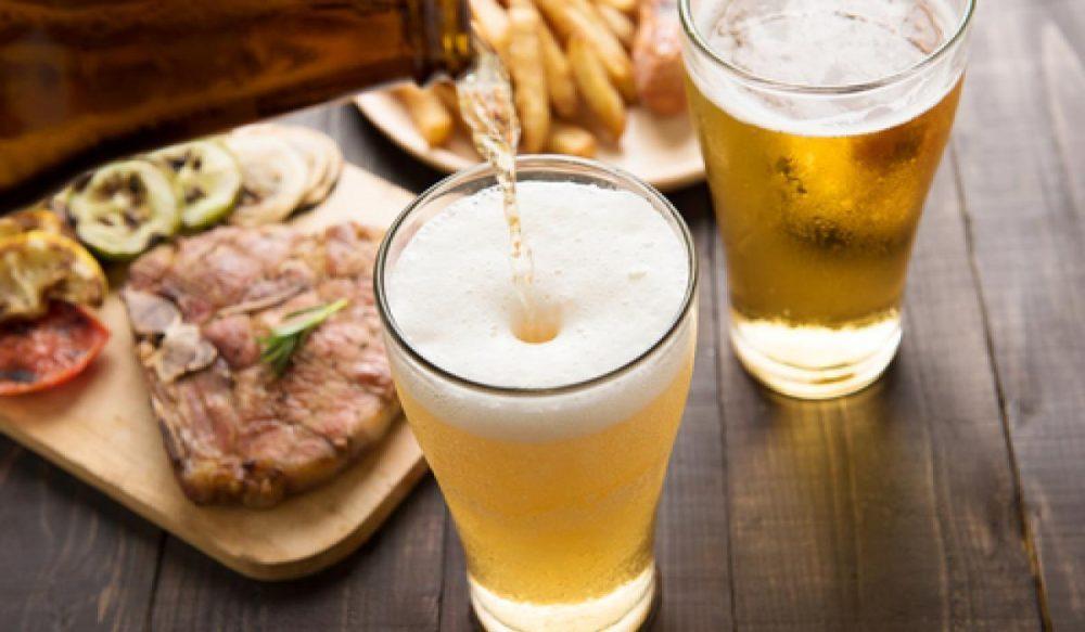 birra a tavola