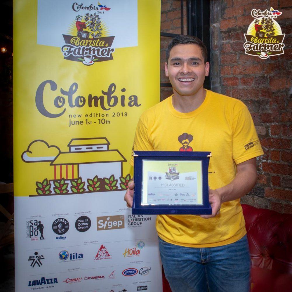 Diego Campos, vincitore di Barista & Farmer 2018