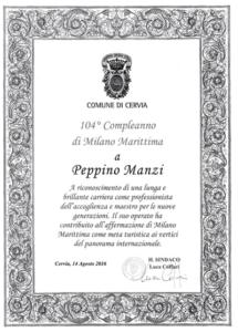 Attestato Manzi